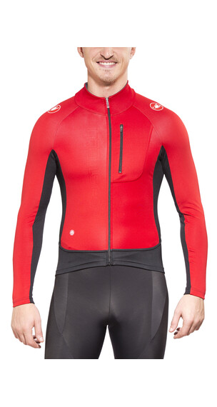 Castelli Trasparente 3 Wind Jersey FZ Men red/black/anthracite